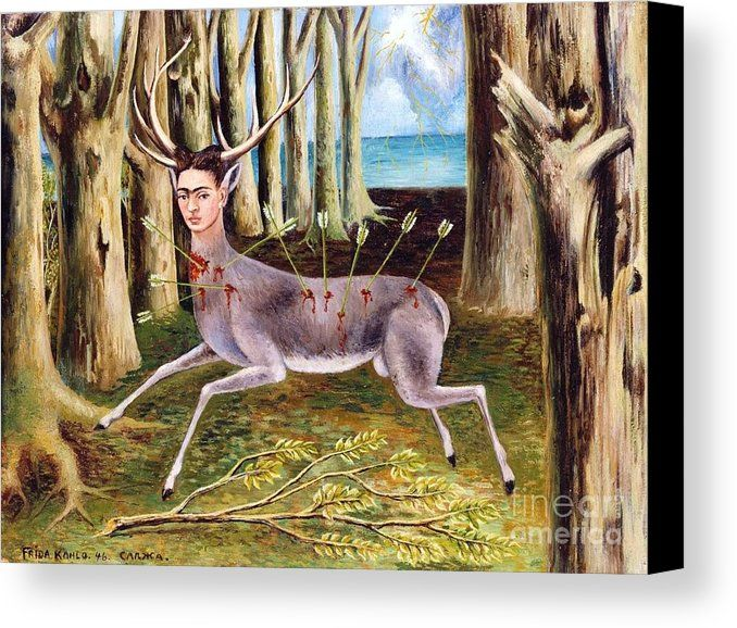 Frida Kahlo Venadito Canvas Print / Canvas Art by