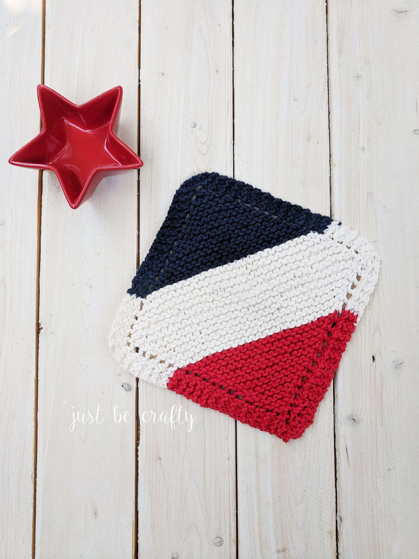 Classic Knitted Dishcloth Pattern - Free Pattern by | Americana ...