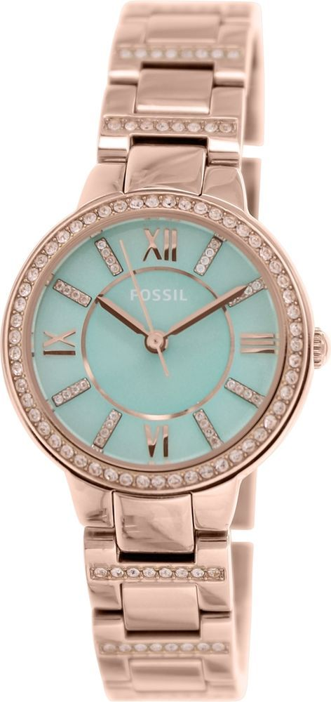 bbb5169bcd2d Fossil Women s Virginia ES3652 Rose-Gold Stainless-Steel Quartz Watch   Fossil  FashionWatches