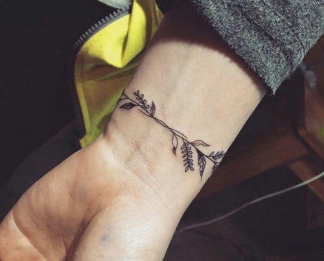 Wrist tattoo vine floral tattoo tattoos pinterest wrist