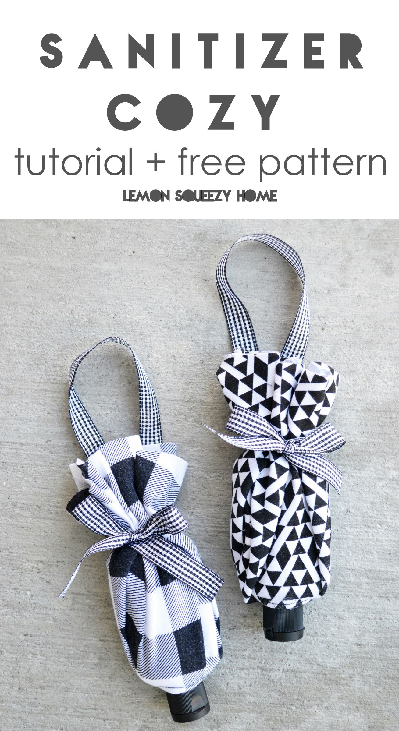Hand Sanitizer Cozy Tutorial Pattern Lemon Squeezy Home Diy