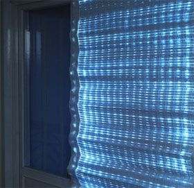 The Solar Energy Curtain An Amazing Prototype Light Control Production LED Lighting Totally Brill