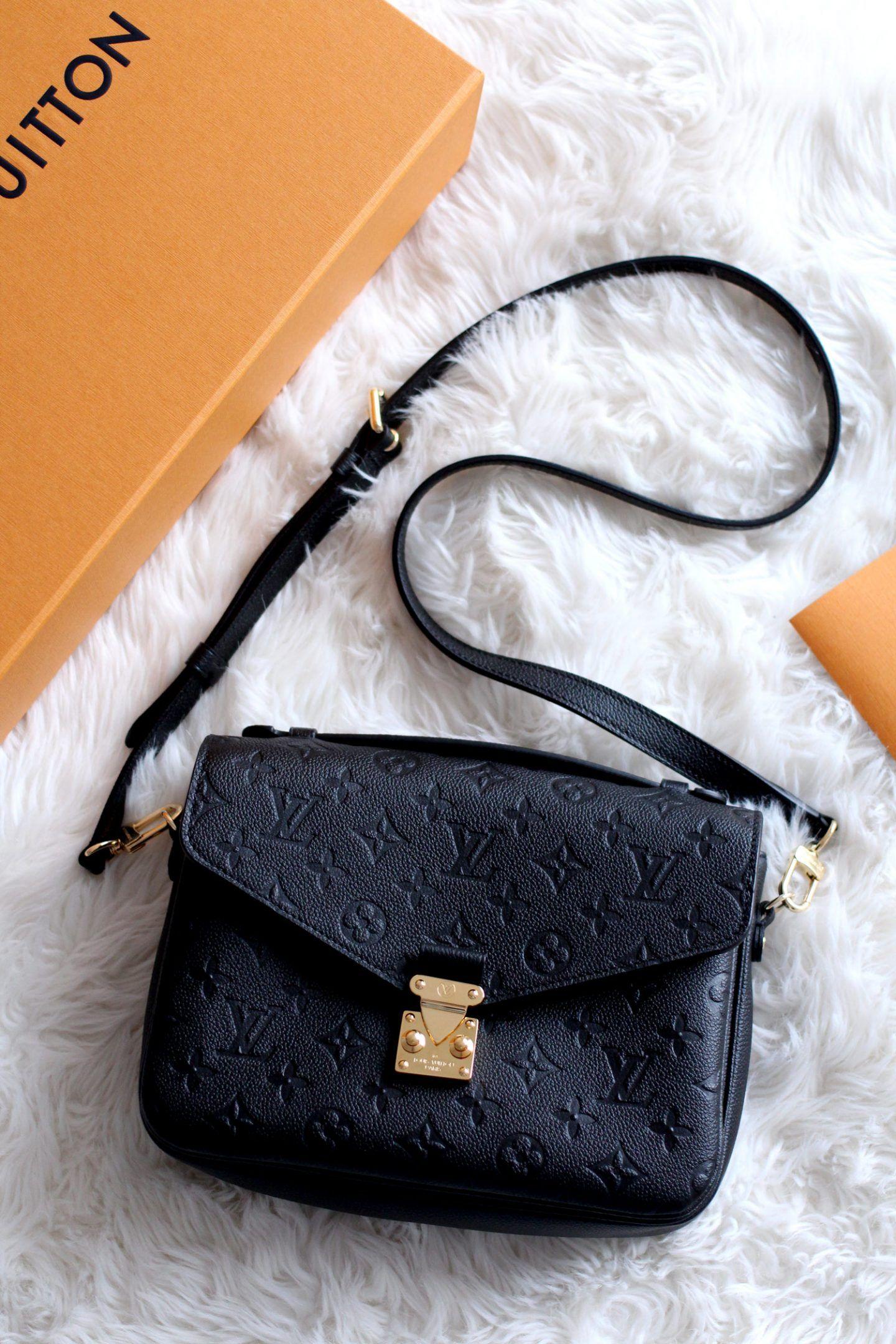 32ccb246c4 louis-vuitton-pochette-metis-Monogram-Empreinte-Leather-black-bag-review-7