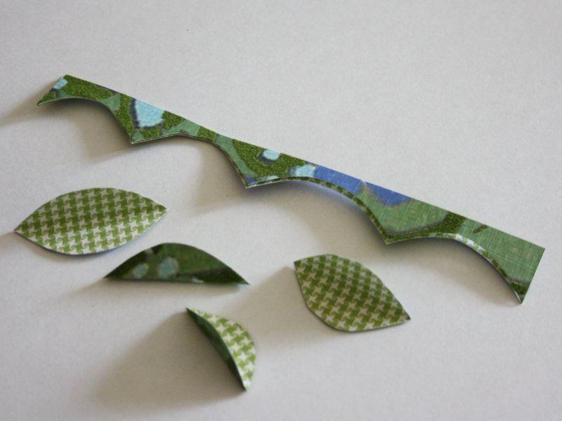 Делаем гофрированные цветочные листики из бумаги ::: elle-craft — творчество со вкусом!