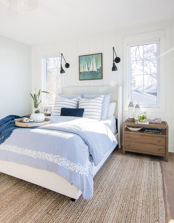 Best White And Blue Lake House Master Bedroom White 400 x 300