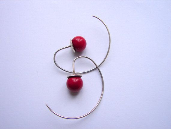 Lovely earrings, made of sterling silver and various gemstones.