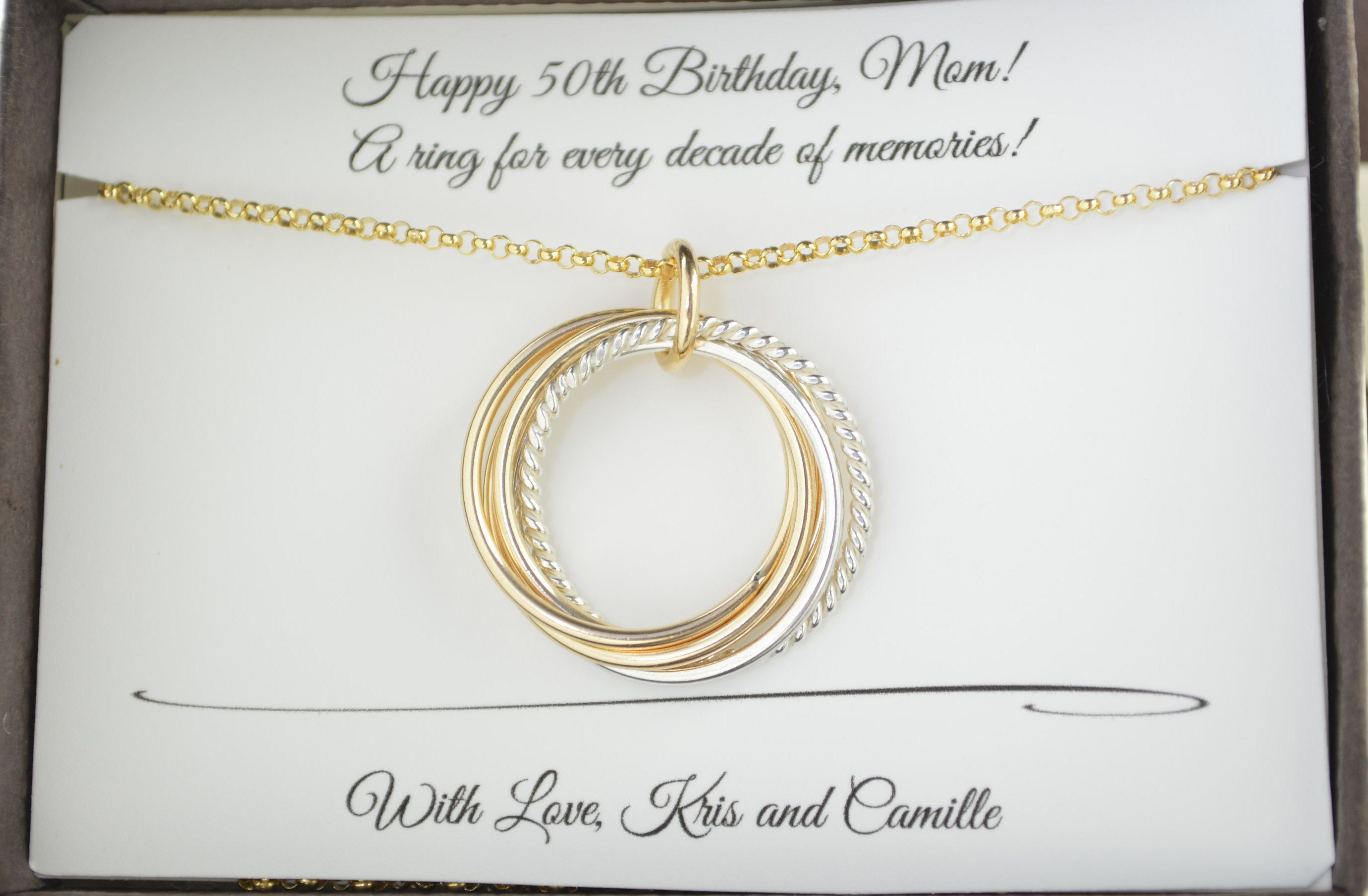 50th birthday gift for women 5th anniversary gift 50th