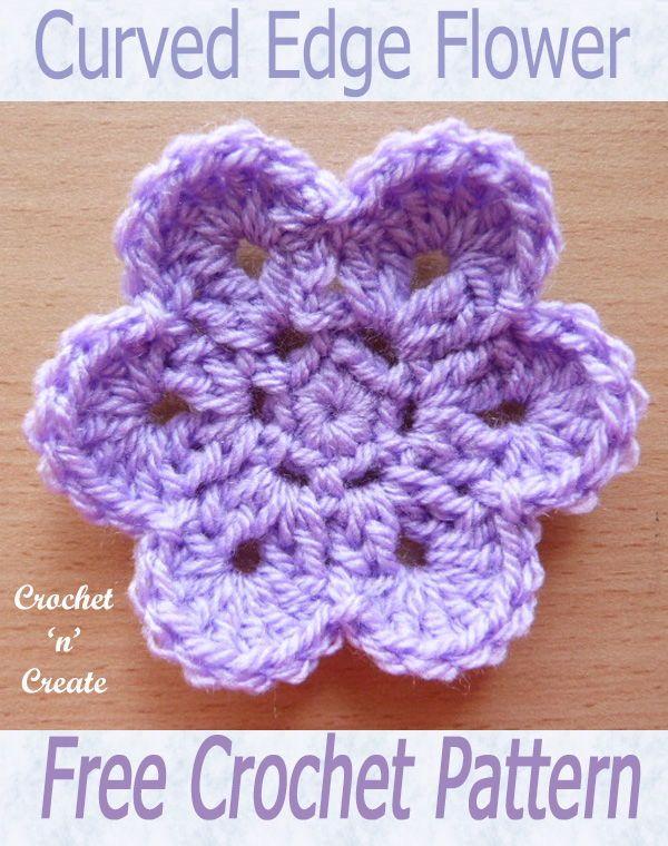 Curved Edge Flower Free Crochet Pattern | Maggie\'s Crochet - All ...