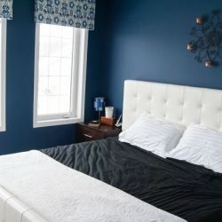 A master bedroom gets a quick makeover making it  an eclectic modern space.