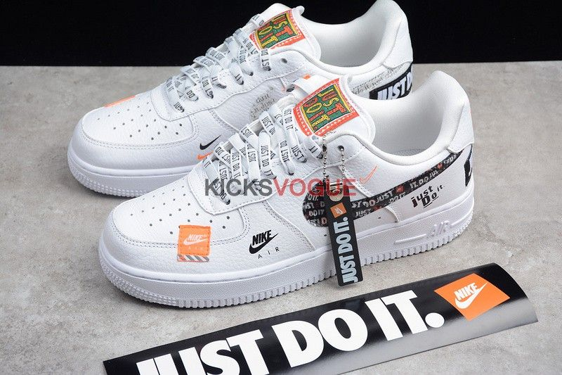 Nike Air Force 1 07 Premium Just Do It Pack White Nike Shoes Air Force Nike Air Shoes Nike Air