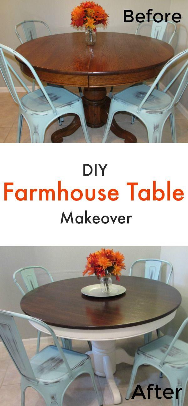 Farmhouse Table Makeover  Diy Farmhouse Table Farmhouse Table Prepossessing Diy Dining Room Table Makeover Decorating Inspiration