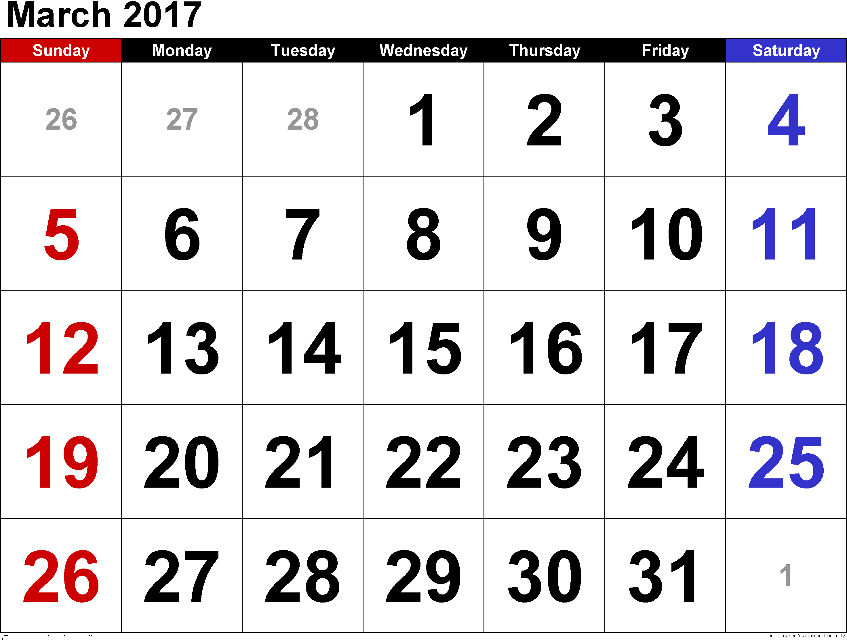 Image result for calendar 2017 march