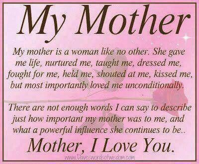 Pin By Tabra Kobbeman On My Mother Happy Mother Day Quotes Mom Quotes From Daughter Thank You Mom Quotes