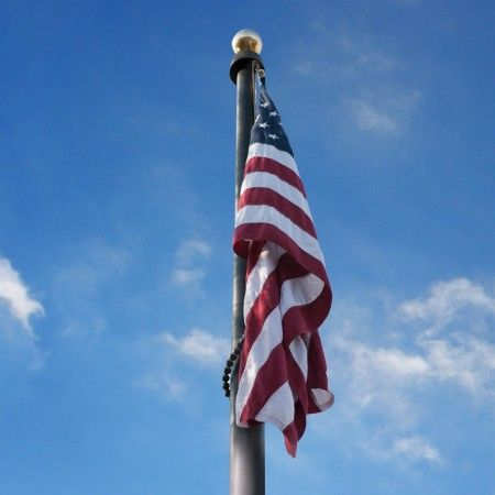 We carry flagpoles for commercial and residential installation ranging from 18' to 80'.