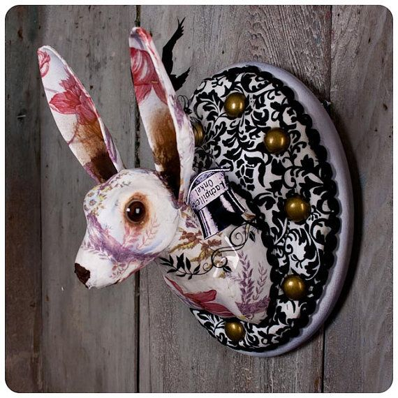 M s de 25 ideas incre bles sobre taxidermia de imitaci n - Cabezas de animales decoracion ...