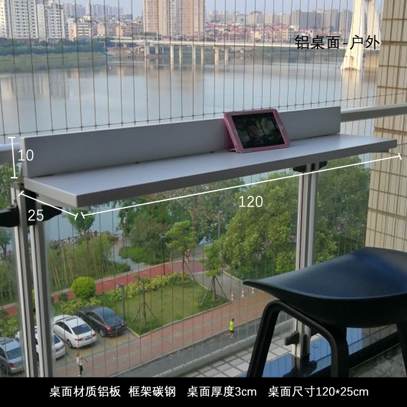 Usd 35 00 Balcony Railing Hanging Table Bar Table Home Multi Functional Hanging Solid Wood Tea Table Balcony Lei Balcony Railing Hanging Table Balcony Design