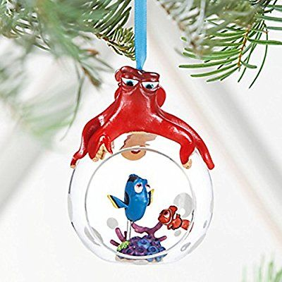 Disney Finding Dory Glass Globe Sketchbook Ornament - 2016