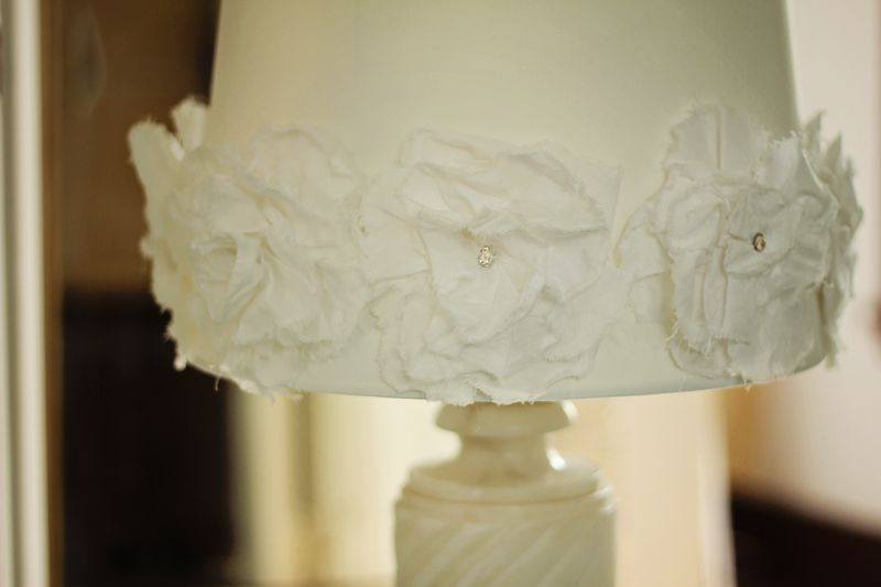 Pretty flowered lampshade my style pinterest lampshades i love big fluffy flowers dont you one day while i was shopping at one of my favorite import stores and i saw this flower covered lampshade that i loved aloadofball Gallery