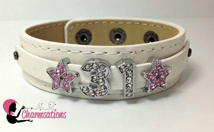 Thirty One 31 inspired bracelet  #bling #sparkle #createyoursparkle #jewelry #personalizedaccessories #glitter #31 #thirtyone #thirtyonegifts