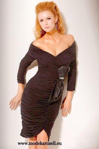 Langarm Abendkleid Kurz in Schwarz | Abendkleid, Modestil ...
