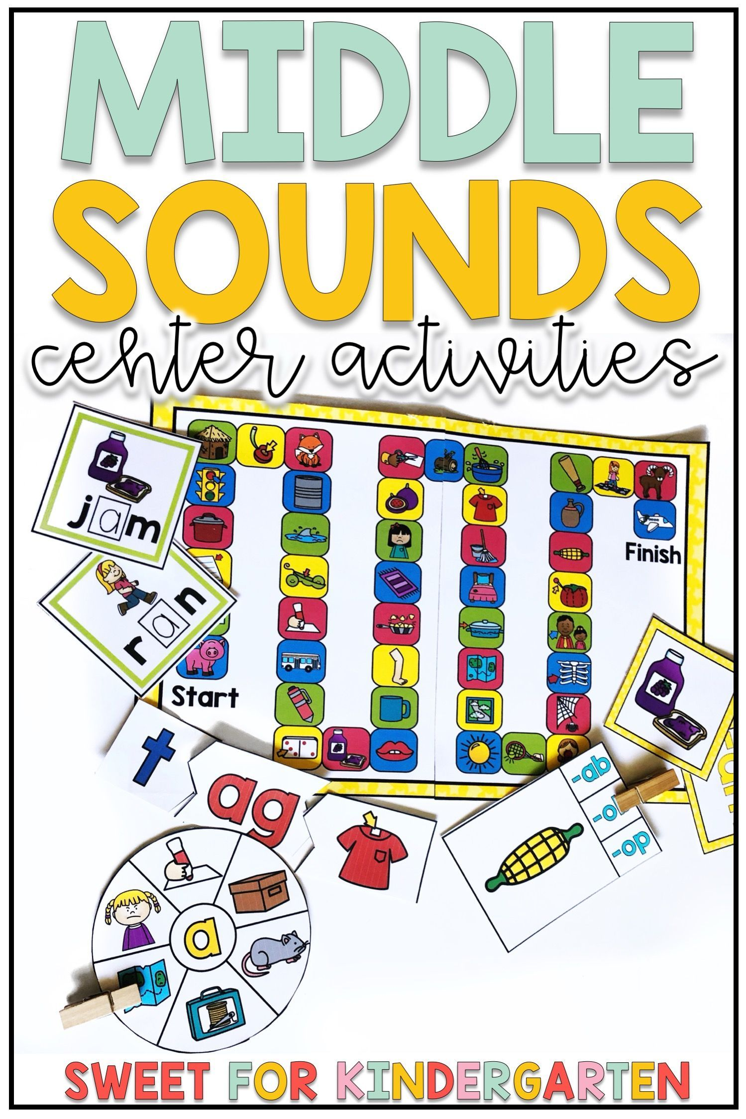 Short Vowel Middle Sounds Center Activities In