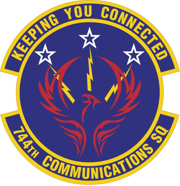 744th Communications Squadron Keeping You Connected Air Force Patches United States Air Force Military Patch