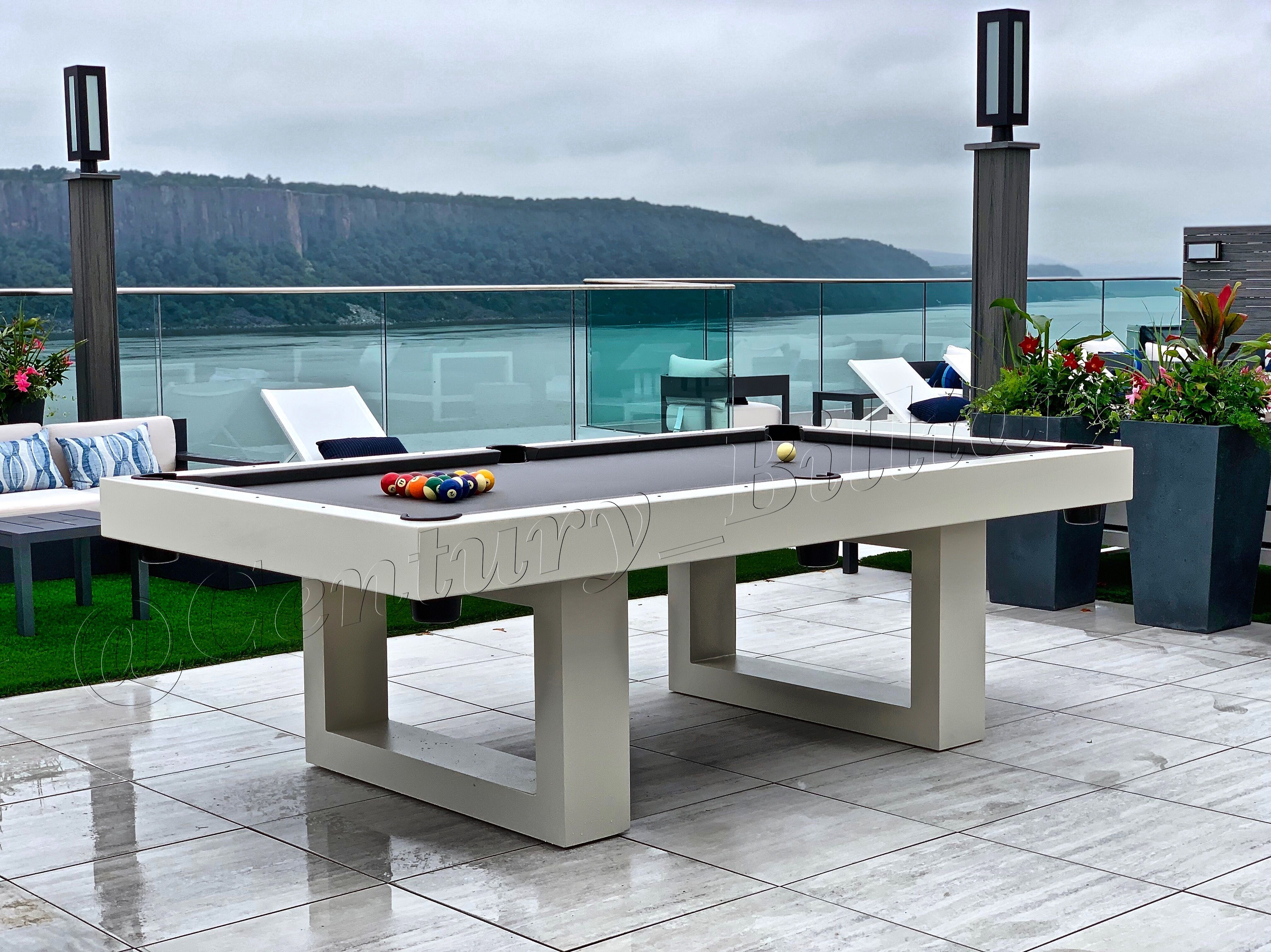 Custom Outdoor Pool Table Outdoor Pool Table Outdoor Pool Pool House Interiors Modern outdoor pool table