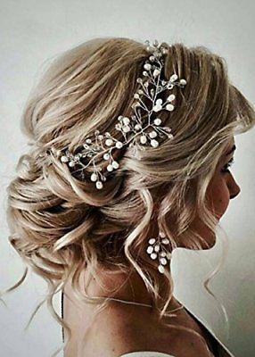 Fxmimior Bride Hair Accessories Crystal Hair Vine Earrings Sets Headband Wedd Cheveux De Mariee Coiffure De Mariage Avec Voile Accessoires De Cheveux De Mariee