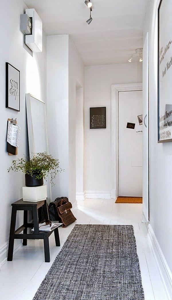 Déco couloir : aménagement en 30 photos | Couloir blanc, Couloir et ...