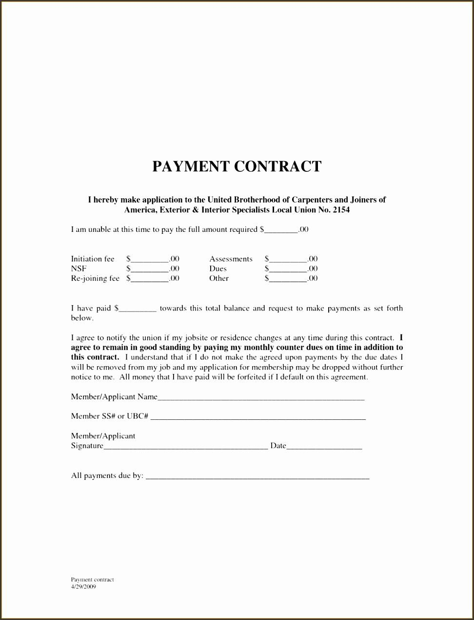 Auto Accident Settlement Agreement Sample Beautiful 9 Payment Agreement Template Sampletemplatess Payment Agreement Word Template Agreement
