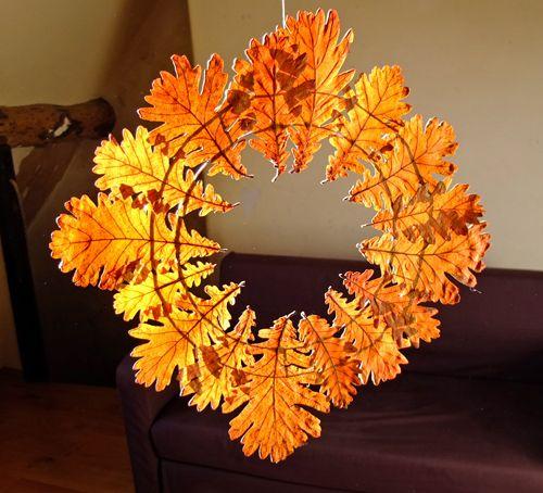 Photo of Autumn Leaf Wreath – Ideas for Easy Fall Leaf Crafts