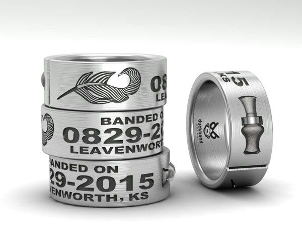 wwwduckbandbrandcom Custom duck band ring with 3D call and