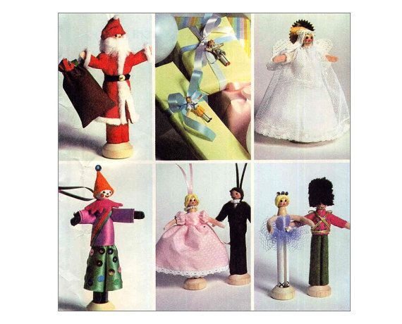 Vintage Clothespin Doll Pattern Toy Christmas Ornament