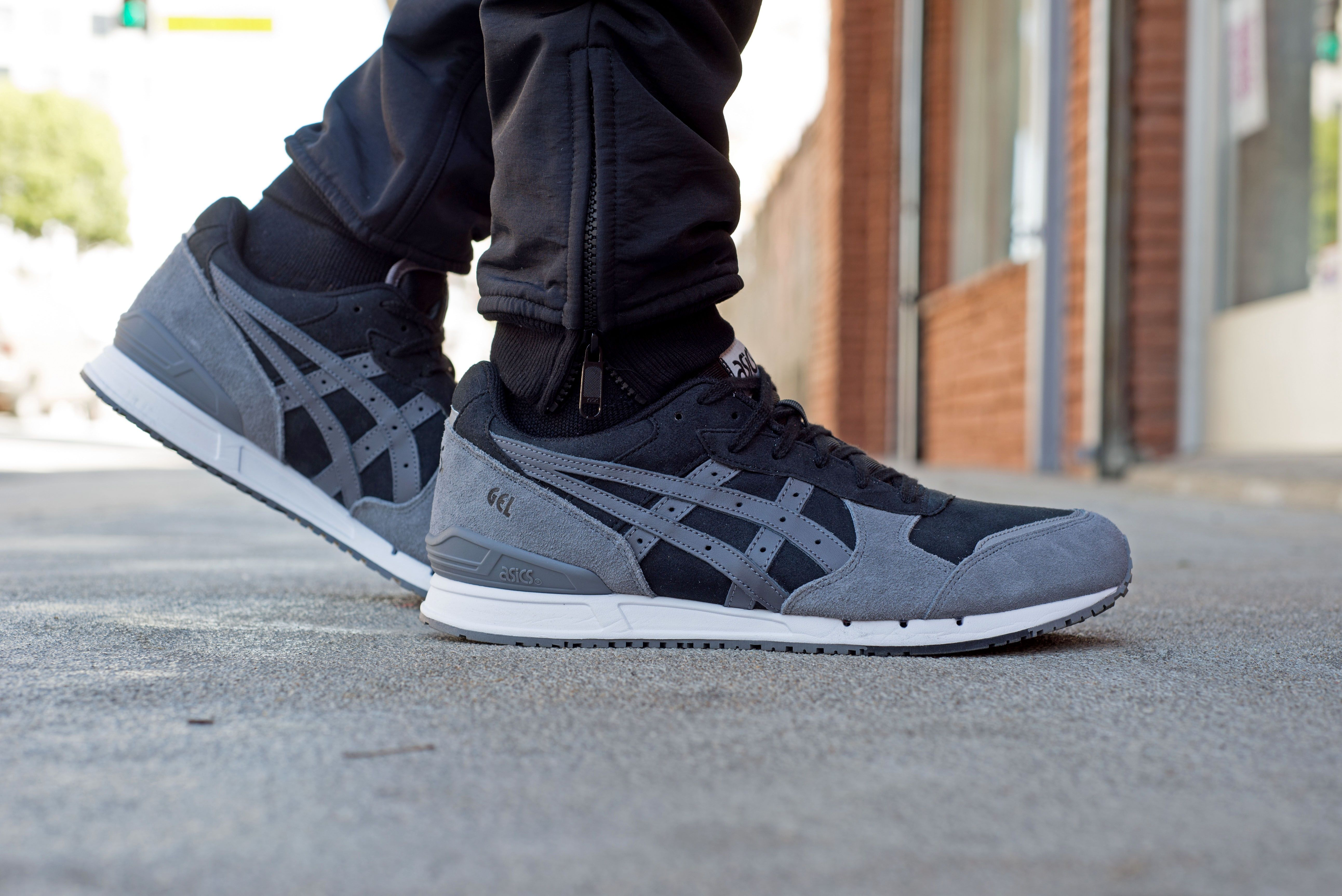 The ASICS Gel Classic Black/Grey takes the lead in today's On-Foot Look.
