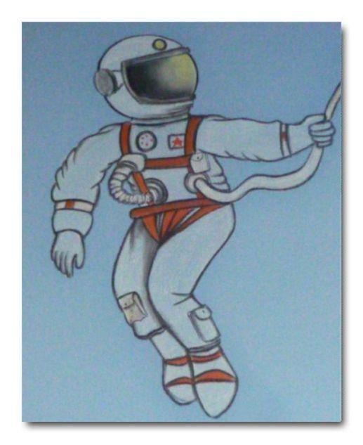 Kids Room Decoration Space Theme Vector Illustration: Astronaut Decor, Kids Wall Art, Boys Room Decor, Outer