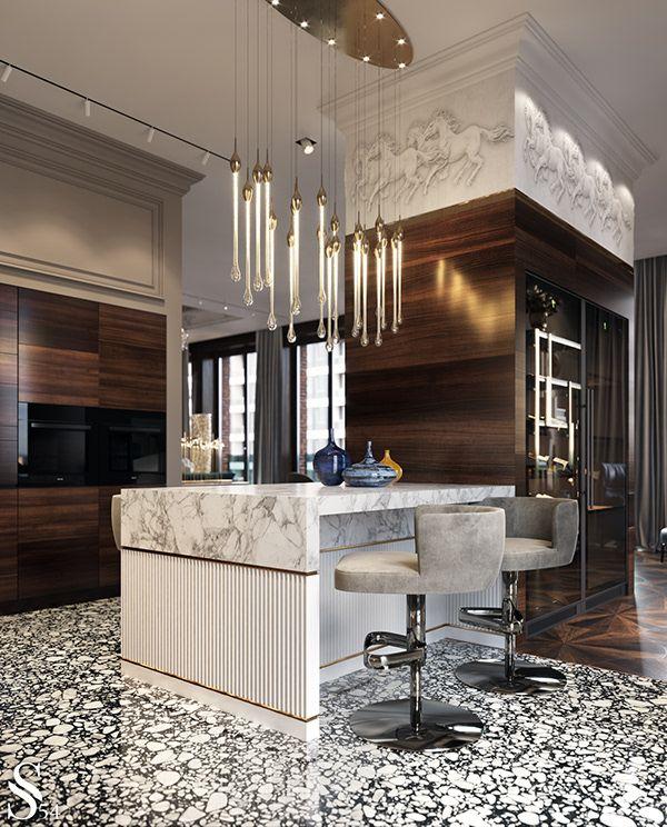 apartment in moscow dezign ark beta interior design kitchen kitchen interior luxury kitchen on kitchen interior luxury id=47226