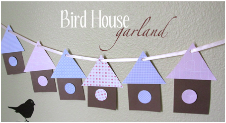 Vtáči dom - girlanda