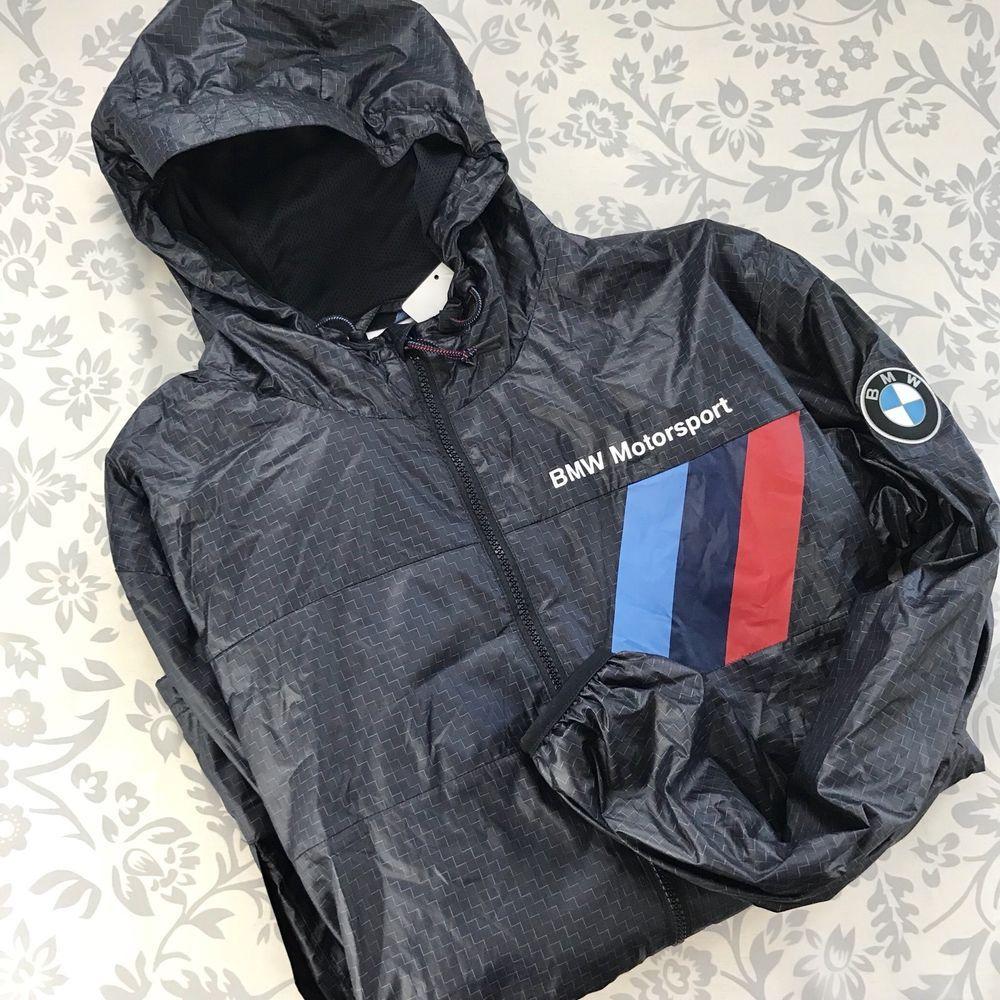 Puma NEW BMW Motorsport mens lightweight jacket hooded team
