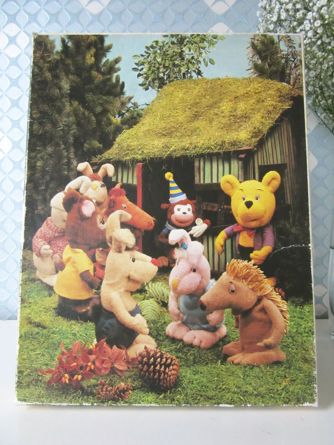 Vintage Children's Puzzle with Bolke the Bear Television Puppetshow made by Chanowski 70s door Vantoen op Etsy