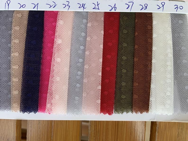 New arrival tulle Lace fabric with polka dots 30 colors | Etsy