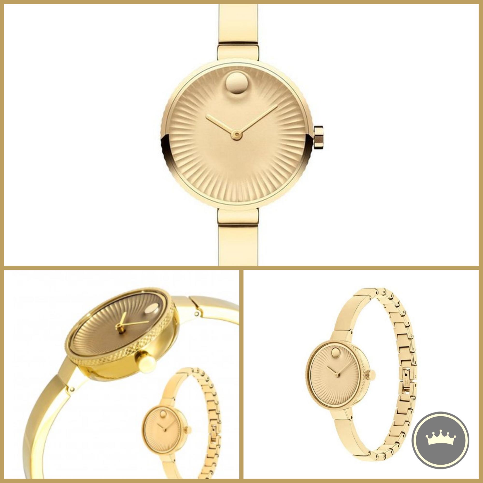 ساعه موفادو السويسرية نسائي ذهبية 3680021 فقط 1999 درهم 3680021 Movado Edge Ladies Yellow Gold Plated Watch Only Gold Watch Michael Kors Watch Kors Watches