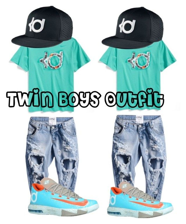 """""""My Twin Boys Outfit"""" by tiasia4 ❤ liked on Polyvore featuring NIKE"""