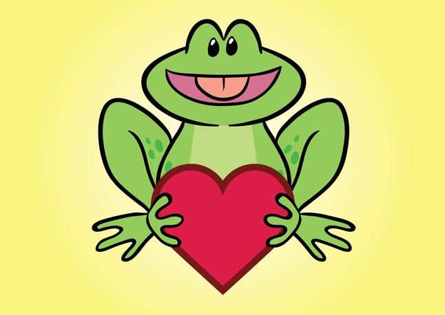 Frog Comic Character vector free
