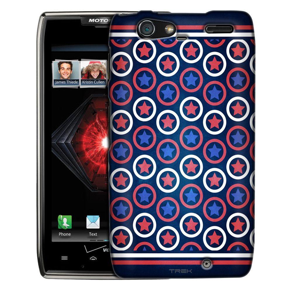 Motorola Droid Razr Maxx Patriotic Stars Stripes and Circles Slim Case