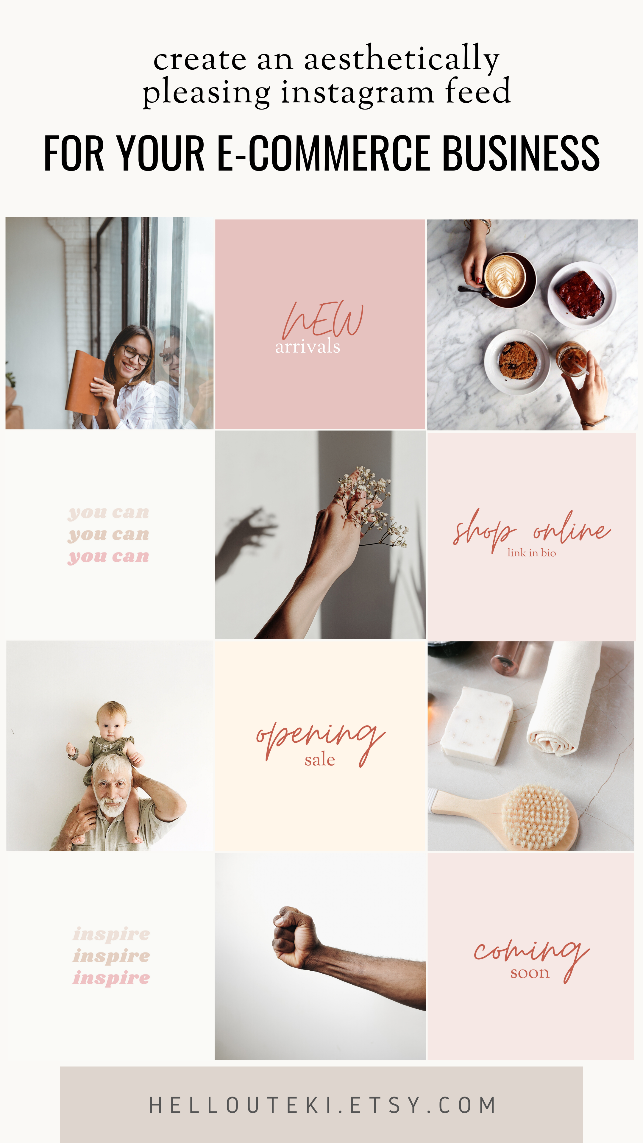 Minimalist Instagram Feed Ideas, Ecommerce Instagram Templates ...