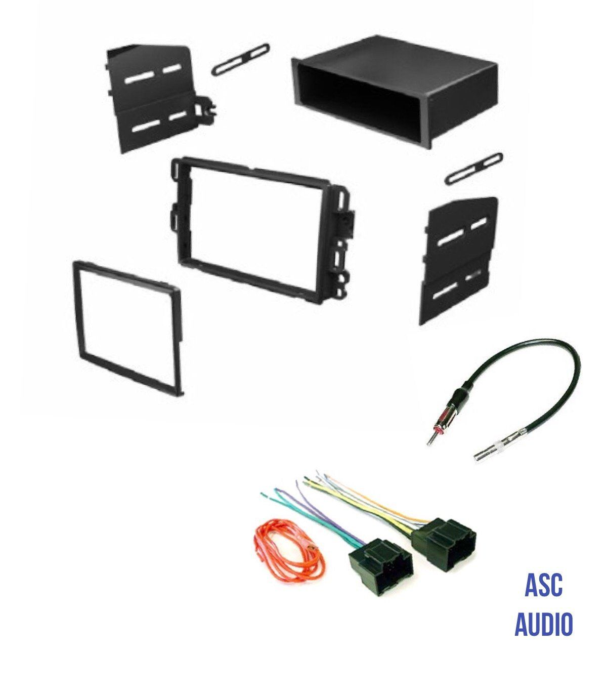 5a29dfae1512d1aaeca596a396162f89 asc audio car stereo dash kit, wire harness, and antenna adapter  at alyssarenee.co