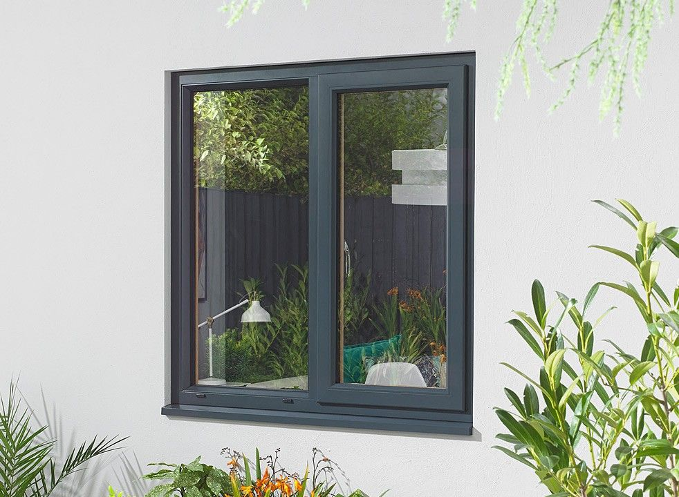 Ultra Grey Double Window 1200mm X 1050mm White Windows Windows Double Window