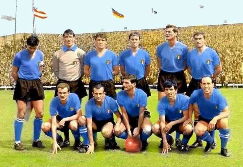 Italy Team Group At The 1966 World Cup Finals