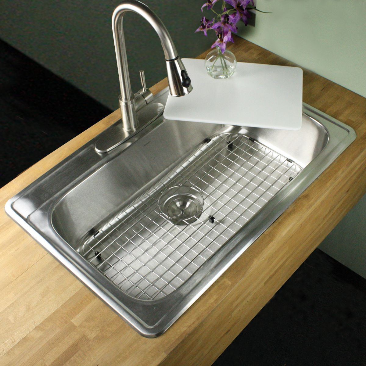 This drop in single bowl stainless steel sink is timeless and ...