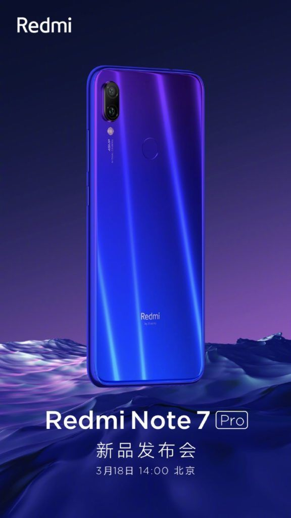 Xiaomi Redmi Note 7 Pro Making Debut In China On March 18 With Note 7 Xiaomi Iphone Offers